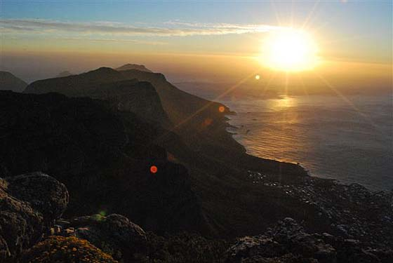 sunset from lion's head